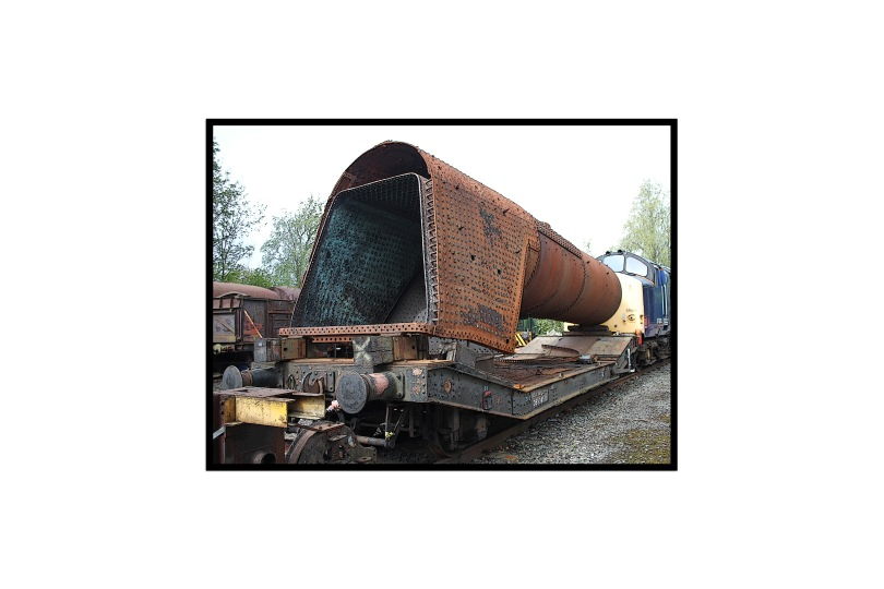 Rusty boiler, well past its best.