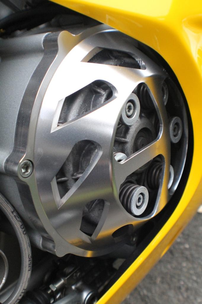 Aluminium clutch cover....nice and noisy!