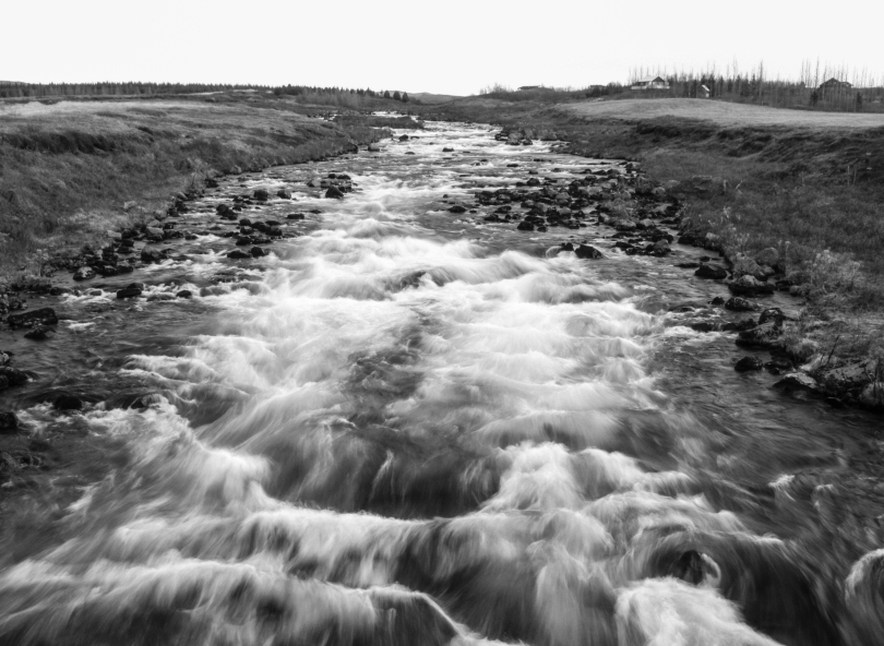 A river we passed, shot on a half second exposure.