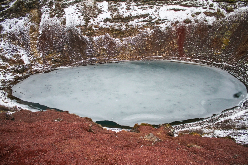 Volcano lake, part of the Golden Circle of Icelandic sites to see.